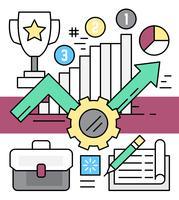 Estatísticas de crescimento empresarial vetor