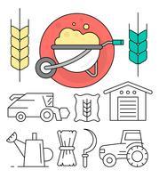 Ícones de fazenda grátis vetor