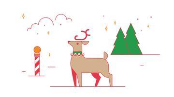 Vetor de rena de Natal