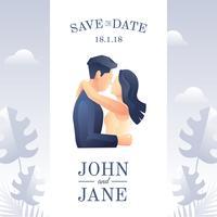 Economias de casamento o vetor de data