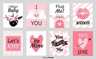 vetor de cartões de valentine fofos