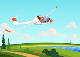 Avião de planador vetor