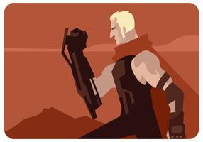 Vetor de herói de arma super