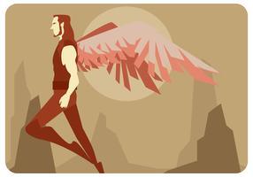 vetor herói voador