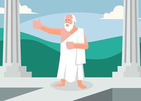 Vector de ilustração de Sócrates