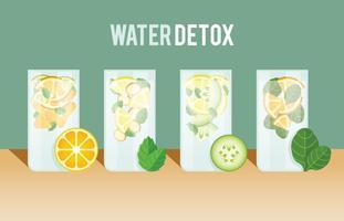 Conjunto Detox de água vetor