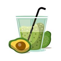 Smoothie de abacate vetor