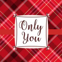 Only You Valentine Card Design vetor