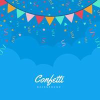 Fundo do vetor Confetti