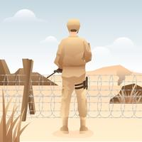 Vetor livre de guarda de fronteira