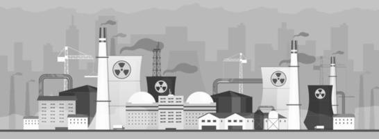fábrica poluente do ar vetor