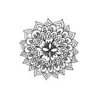ícone de mandala de flor vetor