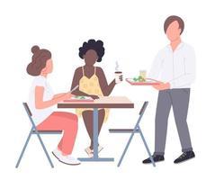 amigos da faculdade na hora do almoço vetor