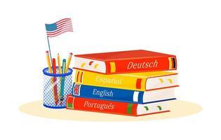 aprendizagem de língua estrangeira vetor