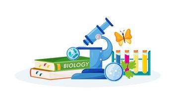 materiais e livros de biologia vetor