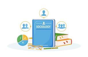 livros e suprimentos de sociologia vetor