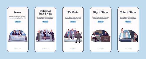 aplicativo móvel de integração de programação de tv vetor