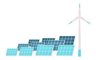 painéis solares e turbinas eólicas vetor