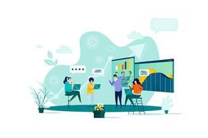 conceito de reunião de negócios em estilo simples.