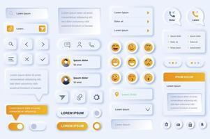 elementos da interface do usuário para aplicativo móvel de rede social vetor