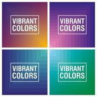 conjunto de fundo abstrato vibrante colorido