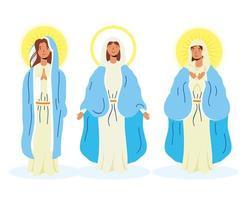 conjunto de ícones de virgem maria