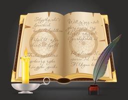 objetos mágicos para bruxaria vetor