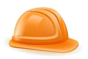 capacete de construção de plástico vetor