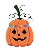 desenho de abóbora de halloween com design de doces