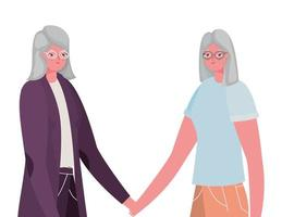 design de desenhos animados para mulheres seniores