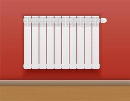 unidade de aquecimento do radiador na parede vetor