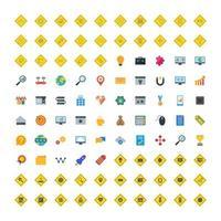 conjunto de ícones de otimização de mecanismo de pesquisa para uso pessoal e comercial. vetor