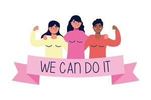 podemos fazer isso mensagem com mulheres juntas