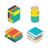 conjunto de ícones de educação e escola