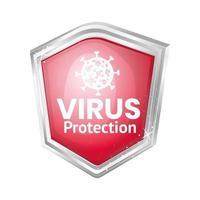 design de escudo de proteção contra vírus covid 19