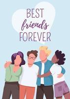poster de melhores amigos para sempre vetor