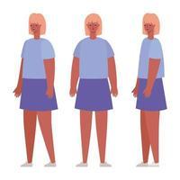 desenhos animados de avatares femininos