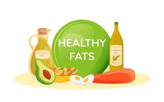 alimentos contendo gorduras saudáveis vetor