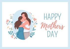pôster feliz dia das mães vetor