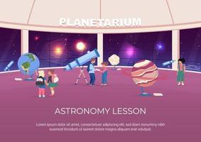 pôster de aula de astronomia vetor