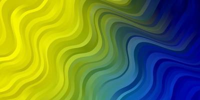 textura azul clara e amarela com arco circular.