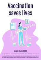 cartaz de vacinação salva vidas