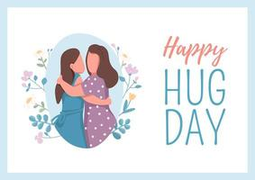 poster feliz dia do abraço vetor