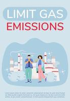 pôster de limite de emissão de gás vetor