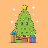 árvore de natal kawaii
