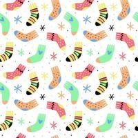padrão de meias desenhadas à mão vetor