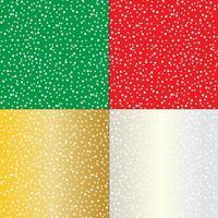 padrões coloridos de neve vetor