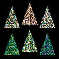 gradiente ornamento de árvores de natal vetor