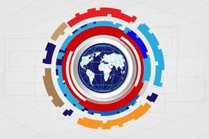 conceito de tecnologia digital global, fundo abstrato