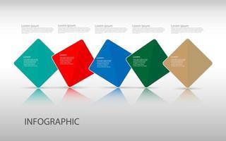 modelo de design de infográficos de linha do tempo com 5 opções, diagrama de processo, ilustração em vetor eps10